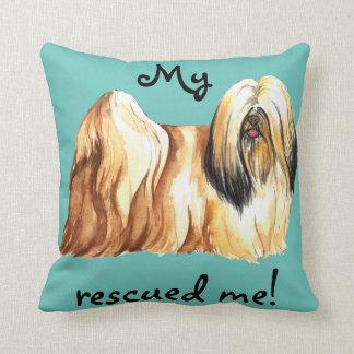 Rescue Lhasa Apso Throw Pillow