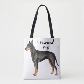 Rescue Manchester Terrier Tote Bag