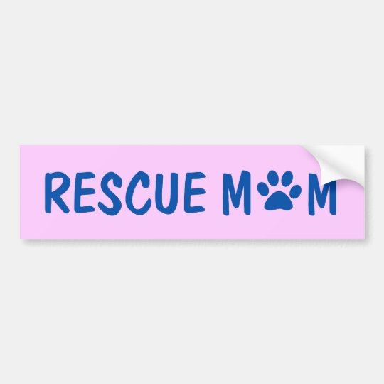 Rescue Mom Bumper Sticker