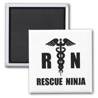 Rescue Ninja Square Magnet