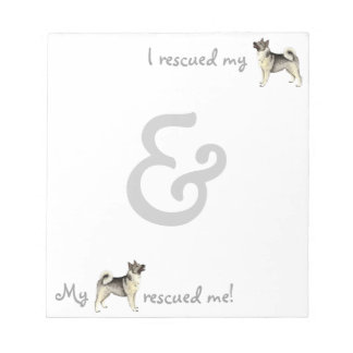 Rescue Norwegian Elkhound Memo Note Pads