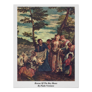 Rescue Of The Boy Moses By Paolo Veronese Poster