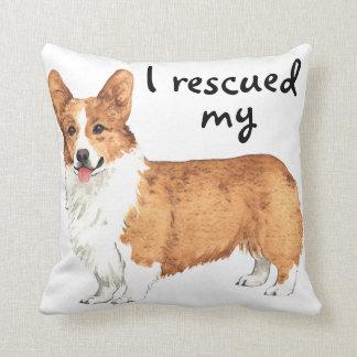 Rescue Pembroke Welsh Corgi Throw Pillow