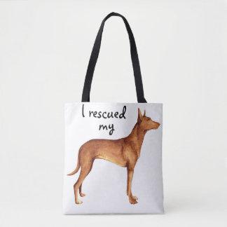 Rescue Pharaoh Hound Tote Bag