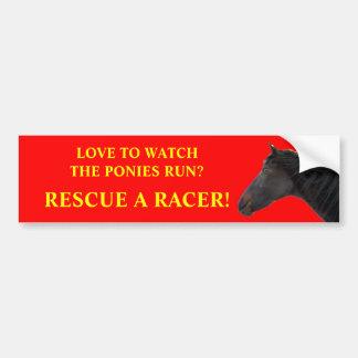 Rescue Racing Horses Bumper Sticker