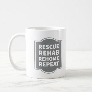 Rescue Rehab Rehome Repeat Coffee Mug