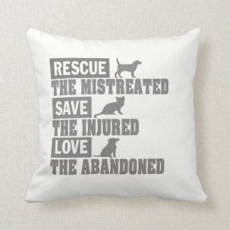 Rescue, Save, Love! Throw Pillow