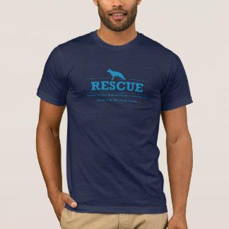 Rescue Shepherd Men's Front & Back Blue T-Shirt