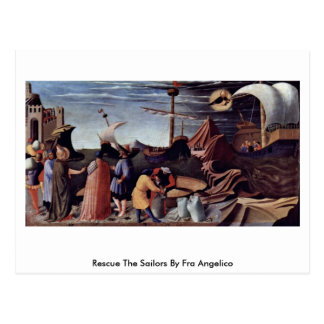 Rescue The Sailors By Fra Angelico Postcard