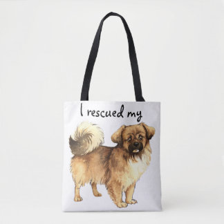 Rescue Tibetan Spaniel Tote Bag