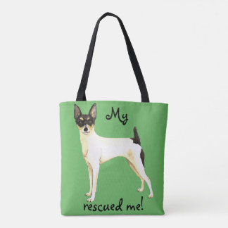 Rescue Toy Fox Terrier Tote Bag
