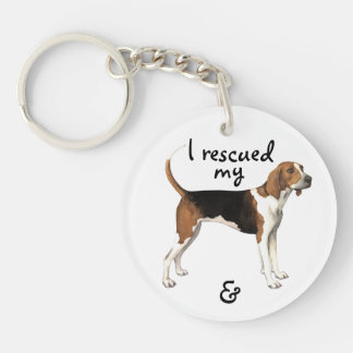 Rescue Treeing Walker Coonhound Double-Sided Round Acrylic Keychain