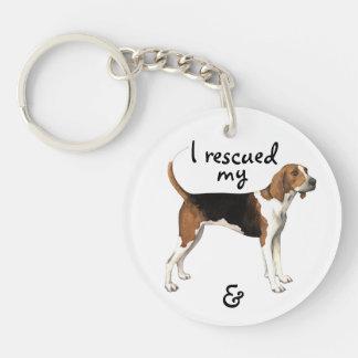 Rescue Treeing Walker Coonhound Keychain