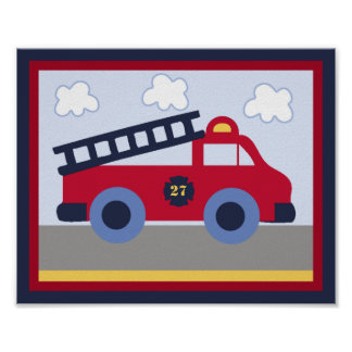 Rescue Vehicle #2 Fire Engine/Truck Poster