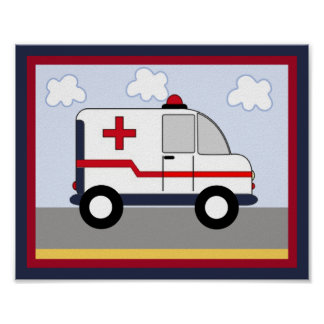 Rescue Vehicle #5 Ambulance Poster/Print Poster