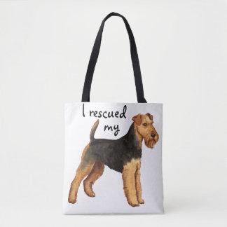 Rescue Welsh Terrier Tote Bag