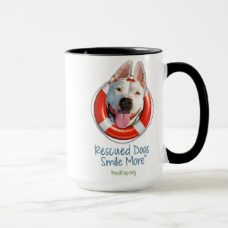 'Rescued Dogs Smile More' MUGS! Mug