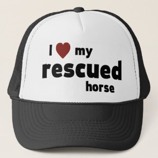 Rescued horse trucker hat