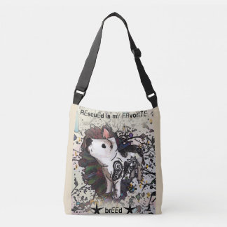 Rescued is my favorite breed crossbody bag