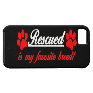Rescued Is My Favorite Breed Paws iPhone 5 Case
