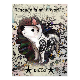 Rescued is my favorite breed postcard