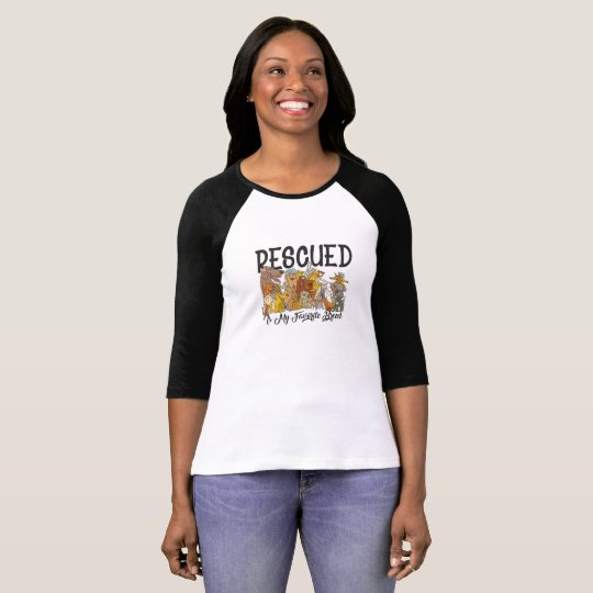 Rescued is my Favourite Breed Tees