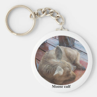 Rescued Moose Calf Keychain