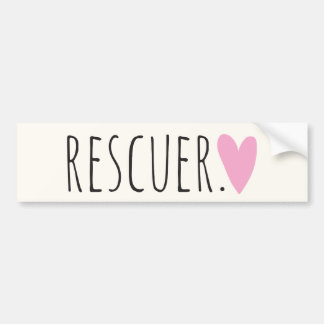 Rescuer with Heart Bumper Sticker