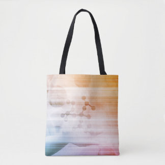Research and Development with Doctor Viewing Tote Bag