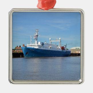 Research And Survey Vessel Sea Explorer Metal Ornament