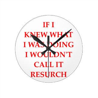 RESEARCH CLOCKS