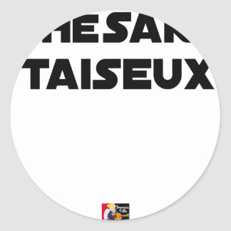 RESEARCH STUDENT TAISEUX - Word games - François Classic Round Sticker