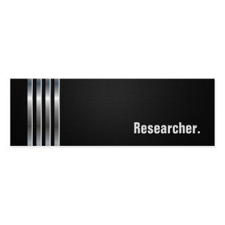 Researcher - Black Silver Stripes Business Card Template