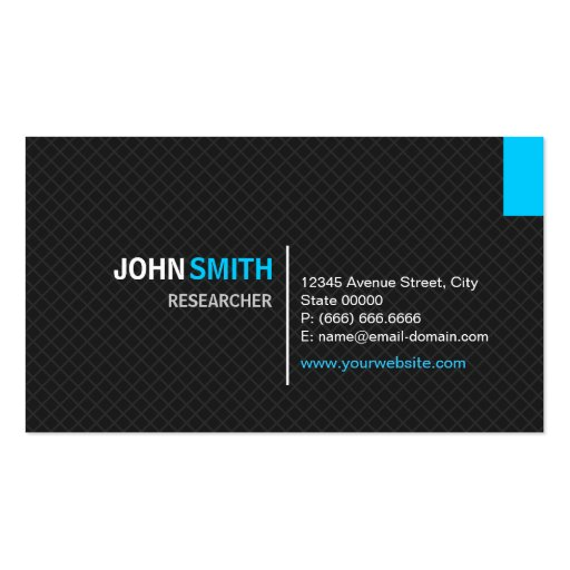 Researcher - Modern Twill Grid Business Card Templates