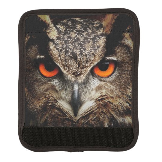 researchers looking owl luggage handle wrap