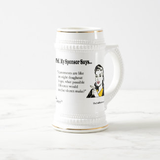 Resentments are like late-night doughnut binges... beer stein