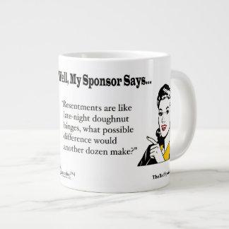 Resentments are like late-night doughnut binges... large coffee mug