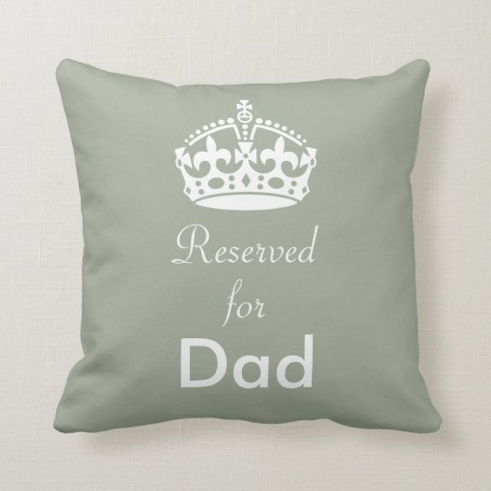 Reserved for (Any Name) Crown Cushion