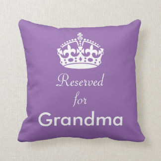 Reserved for Grandma (or any name) Crown Cushion