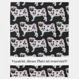 Reserved for Mr. Mops Fleece Blanket