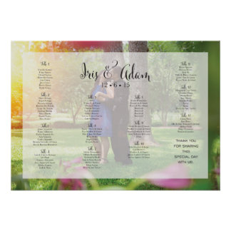"RESERVED Seating Chart for Iris+Adam (28"" x 20"") Poster"