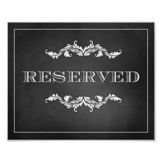 Reserved Sign Wedding or Party 8x10 Poster