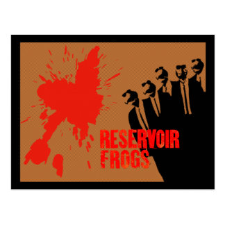 reservoir frogs postcard