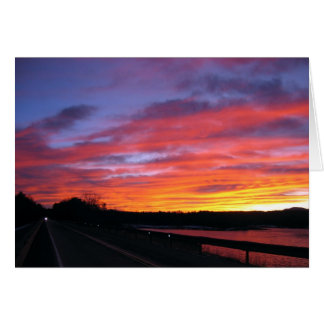 Reservoir Sunset Card