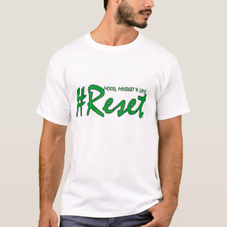 #Reset Male Tee (Green Writing)