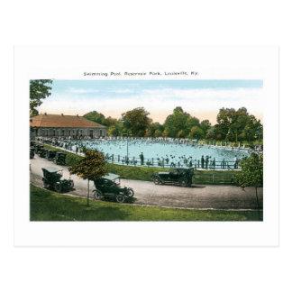 Resevoir Park, Swimming Pool, Louisville, Ky Postcard