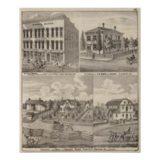 Residence and mill of Samuel Cade, Wabash Tp Poster