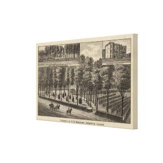 Residence of DB Williams, Edgerton, Kansas Canvas Print