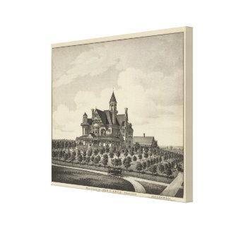 Residence of John D Knox Topeka Kansas Canvas Prints