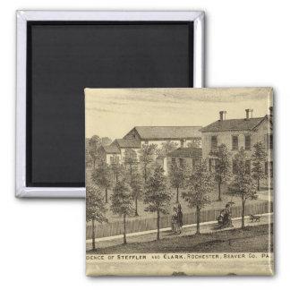 Residence of Steffler and Clark, Rochester Square Magnet